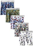 Fruit of the Loom Boys 2-7 Toddler 5 pack  Boxer Brief, Multi, 4T