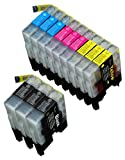 12 Pack Compatible Brother LC-71 , LC-75 3 Black, 3 Cyan, 3 Magenta, 3 Yellow for use with Brother MFC-J280W, MFC-J425W, MFC-J430W, MFC-J435W, MFC-J5910DW, MFC-J625DW, MFC-J6510DW, MFC-J6710DW, MFC-J6910DW, MFC-J825DW, MFC-J835DW. Ink Cartridges for inkjet printers. LC-71BK , LC-71C , LC-71M , LC-71Y , LC-75BK , LC-75C , LC-75M , LC-75Y © Blake Printing Supply