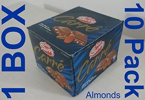 Carré Autentico Chocolate Savoy Venezolano 1 Box, 10 Bars (Almonds) (Venezuelan Food compare prices)