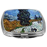 Rikki Knight Compact Mirror, Van Gogh Art Van Gogh Country Road In Provence