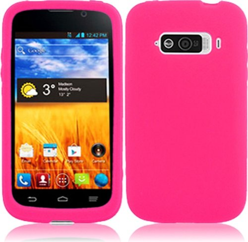 For ZTE Imperial N9101 Silicone Jelly Skin Cover Case Hot Pink Accessory (Zte Imperial N9101 compare prices)