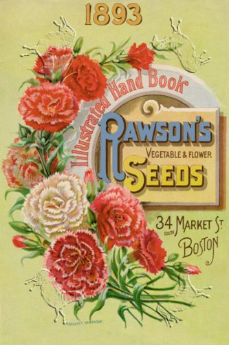 Canvas Print, Rawson's Vegetable and Flower Seeds - 12 x 18