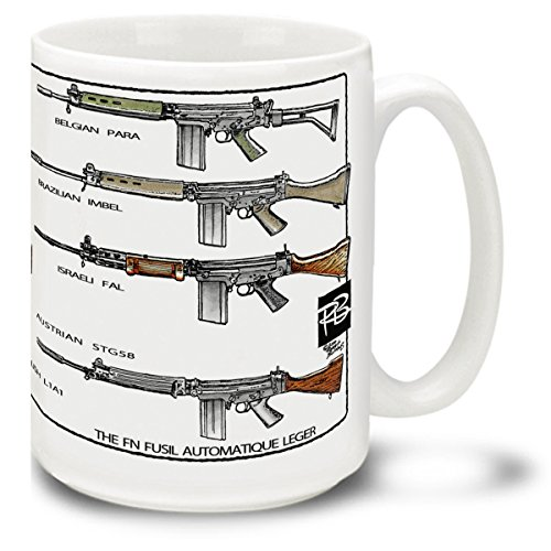 Cuppa Second Amendment Rights 15-Ounce Coffee Mug With Fal'S