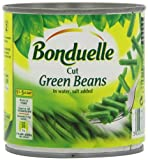 Bonduelle Cut Green Beans in Water 400 g (Pack of 12)