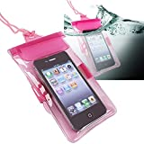 eForCity® Waterproof Bag Case for Cell Phone / PDA, Hot Pink Reviews