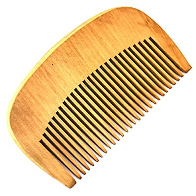 Beard Comb (Wooden) - Pocket Sized for Men On the Go - Wood Design Ensures No Static Even for Long Beards - Suitable for Use With Grooming Oil, Balm and Wax - Lifetime Guarantee