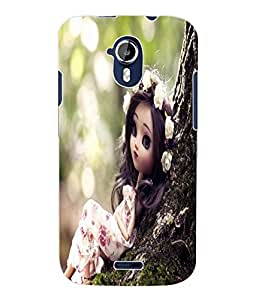 Fuson 3D Printed Cute Doll Designer Back Case Cover for Micromax Canvas Magnus A117 - D730