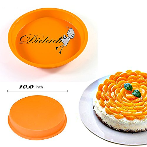 DiDaDi Light Orange Silicone Cake Mold Pan, Round Cake Baking Pans, Non-Stick Bakeware (Lips Cake Pan compare prices)
