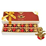 Chocholik Luxury Chocolates - 16pc Ultimate Designed Wrapped Chocolate Box With Ganesha Idol - Diwali Gifts