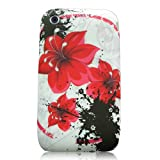 Xtra-Funky Exclusive Soft Silicone Flower Floral & Butterflies Case for iPhone 3G 3Gs (Red Floral)by Xtra-Funky