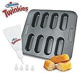 Hostess Twinkies Bake Set Cake Pan Recipe Book Pastry Bag Snack Non-Stick Baking