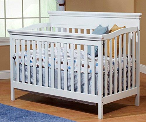 Sorelle Katherine Crib with Mini Rail, White - 1