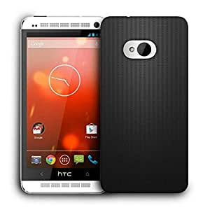 Snoogg Plain Black Wall Printed Protective Phone Back Case Cover For HTC One M7