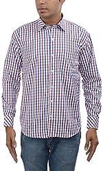 Major Sab Men's Casual Shirt MS7063L4_Red_XL