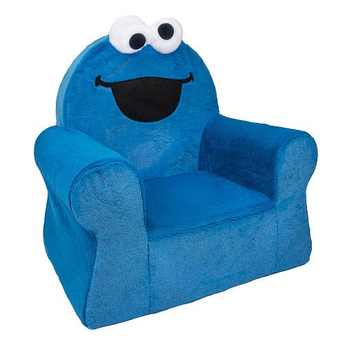 Spin Master 6022996 Sesame Street Comfy Arm Chair   Cookie Monster Blue