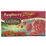 Celestial Seasonings Herb Tea, Raspberry Zinger, 20-Count Tea Bags (Pack of 6)