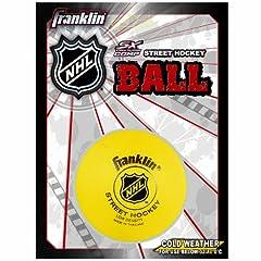 Franklin Sports NHL Street Hockey Low Density Ball (Yellow) by Franklin