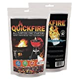 QuickFire, Instant Fire Starters. Voted #1 Camping And Charcoal BBQ Fire Starter of 2016. Waterproof, Odorless And Non-Toxic. (Small - 25 Pouches)