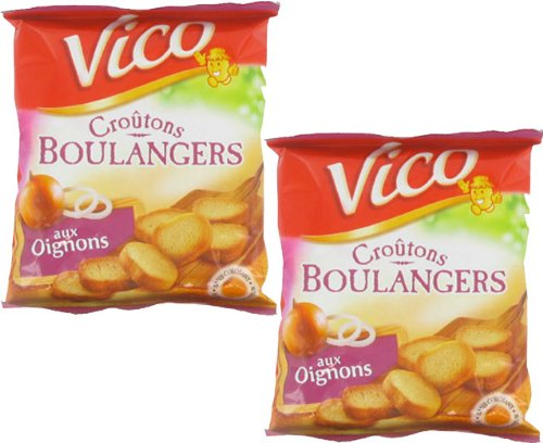 French onion croutons Vico-croutons oignon- 2 x 90 gr