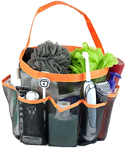 Shower Caddy & Tote Bag By Wonderbath - Orange 8 Pocket Jumbo Sized Basket With Rugged Stitched Handle Design - 100% Money Back Lifetime Guarantee - Great For College Students In Dorms, Kids In School, Travel, The Gym, Sports, Even To Organize Your Baby'S front-153062