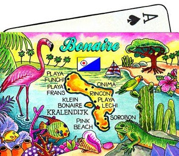 Bonaire Netherlands Antilles Map Collectible Souvenir Playing Cards