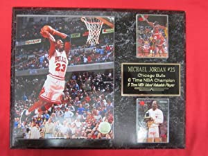 Michael Jordan Chicago Bulls 2 Card Collector Plaque w 8x10 photo SLAM DUNK by J & C Baseball Clubhouse