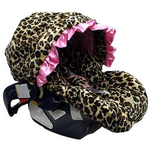 Imagen de Bebé Bella Maya Pink Leopard Infant Car Seat Cover