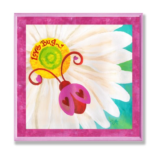 The Kids Room by Stupell Red Ladybug on Daisy Square Wall Plaque