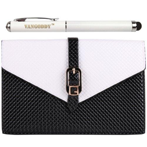 Pu Leather Diamond Pouch Bag Case For Lg L35 / L80 / L65 / A380 / F90 / F70 / L70 / L90 / L40 + Stylus Pen (White & Black)