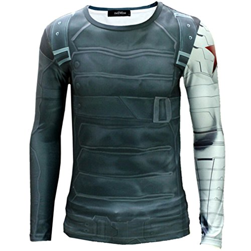 Cos-me Captain America Costume Cosplay Winter Soldier T-shirt