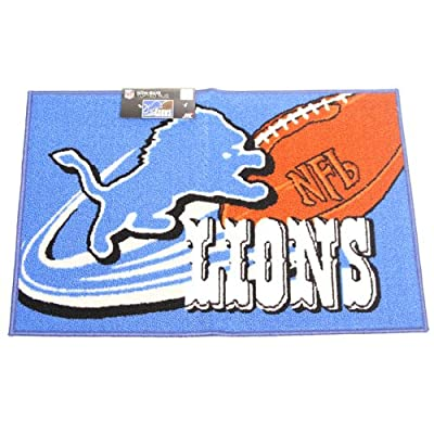 "NFL Detroit Lions Non-Skid Tufted Rug Mat 20"" x 30"""