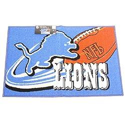 NFL Detroit Lions Non-Skid Tufted Rug Mat 20 x 30