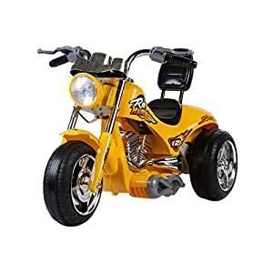 Amazon.com: Mini Motos Kids Play Vehicles Red Hawk Motorcycle 12v Yellow: Toys & Games
