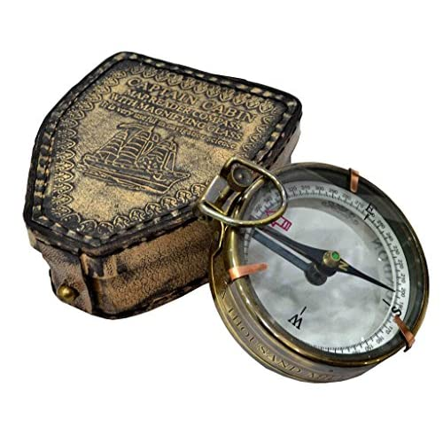 Brass Nautical Navigational Compass Ships Compass Map Compasses Desk Brass Compass Brass Antique