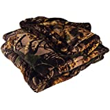 "Cabela's Seclusion 3D Camo Fleece Throw or Twin Blanket 60"" x 90"""