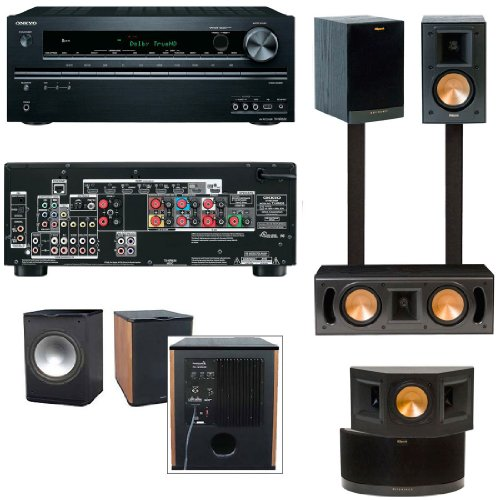 Klipsch Rb-41Ii Home Theater System-Onkyo Tx-Nr626 7.2 Channel -Free Sub
