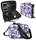DURAGADGET Limited Edition Purple Camo Travel Armoured Protective Shell Storage Case With Shock Absorbing Foam & Carry Handle Designed For GoPro Headcams Including GoPro Hero 3 AHDBT-301 Camcorder - (Black, Silver and White Editions), HERO3+ CHDHX-302 / CHDHN-302, Hero 2, Hero 1, HD Hero 960 Cameras