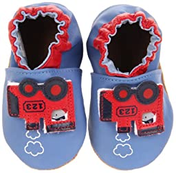 Robeez Soft Soles Peek-A-Roo Train Conductor Pre-Walker (Infant/Toddler), Blue/Red, 18-24 Months (6.5-8 M US Toddler)