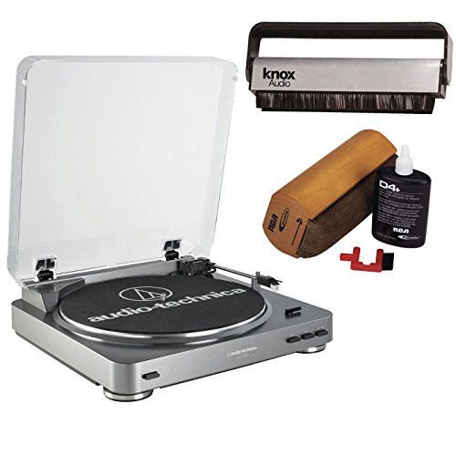 Audio-Technica AT-LP60-USB Turntable w/ Knox Carbon Fiber Vinyl Brush & Cleaning Kit (Pyle Turntable Needles compare prices)