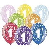 BUDILA® 10 Luftballons metallic zum 1. Geburtstag bunt gemischt ca. 110cm Umfang heliumgeeignet