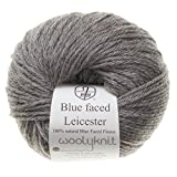 50g balls of Woolyknit Blue Faced Leicester DK 100 British Wool hand knitting Yarn Mid Brown Natural Twist