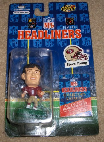 Buy Low Price Corinthian 1996 – Vintage – Corinthian – NFL – Headliners – Steve Young #8 – QB – San Francisco 49ers – 3 Inch Sports Figure – Out of Production – Limited Edition – Collectible (B000WB1NJO)