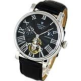 [FORTUNA]フォルトナ 腕時計 太陽と月の機械式時計 自動巻き/手巻き スケルトン仕様/サン&ムーン メンズ腕時計