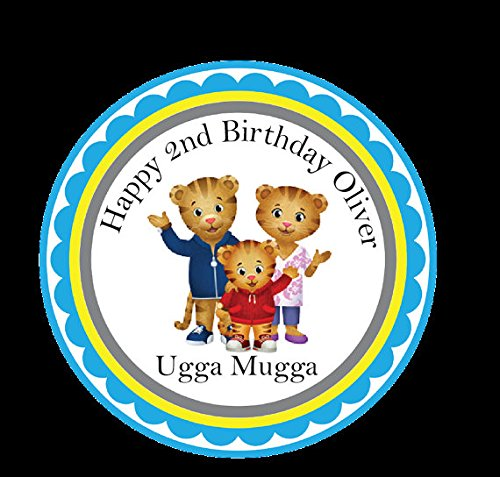 Daniel the Tiger Stickers Birthday Tags Birthday Stikcers Party Favors Tags Favor Tag Birthday Personalized Stickers Party Favor Stickers