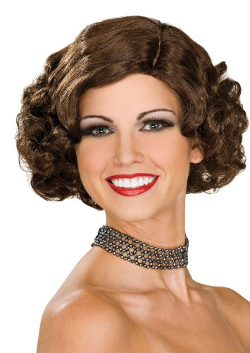 Rubie's Costume Flapper Wig, Brunette, One Size - 1