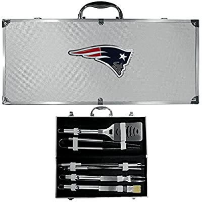 New England Patriots Nfl 8pc Bbq Tools Set