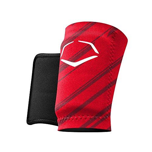 EvoShield MLB Protective Speed Stripe Wrist Guard, Red, Small