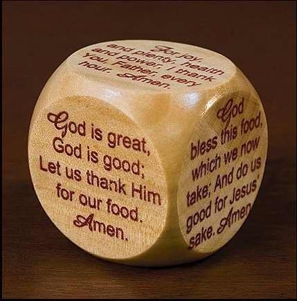 1 X Mealtime Prayer Cube for Children and Families