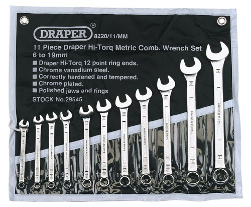 Draper Hi-Torq 29545 11-Piece Metric Combination Spanner Set