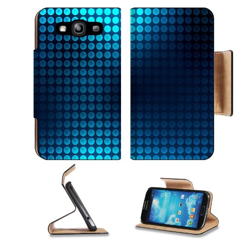 Pattern Blue Grid Square Samsung Galaxy S3 I9300 Flip Cover Case With Card Holder Customized Made To Order Support Ready Premium Deluxe Pu Leather 5 Inch (132Mm) X 2 11/16 Inch (68Mm) X 9/16 Inch (14Mm) Liil S Iii S 3 Professional Cases Accessories Open C